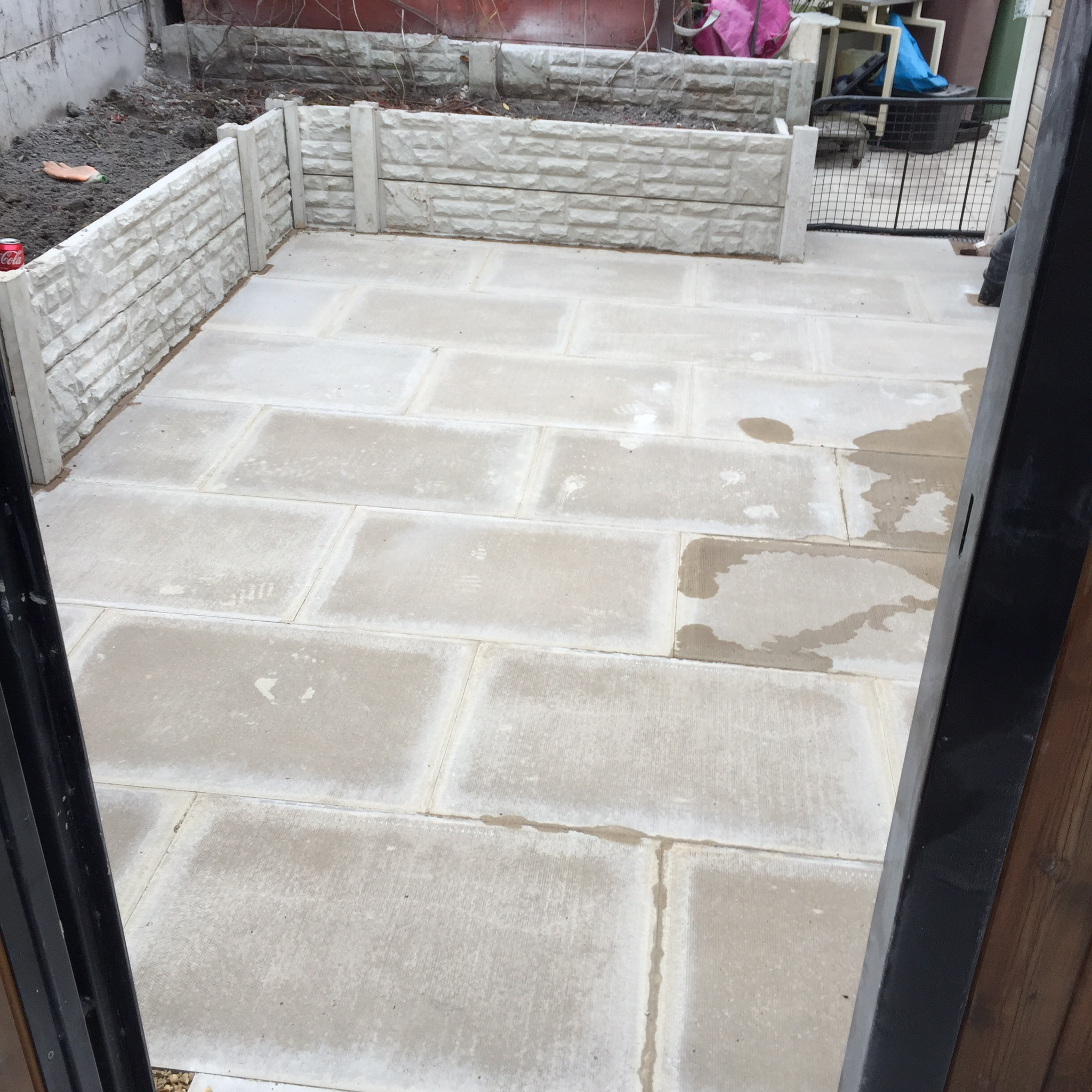Concrete Flagged Area. St Helens Lancashire