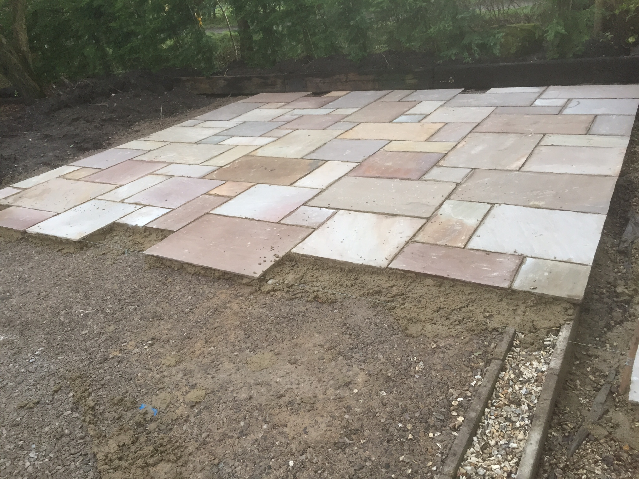 Exceptional Garden Patio Area Flagged With Indian Stone, Scarisbrick, Southport  Lancashire
