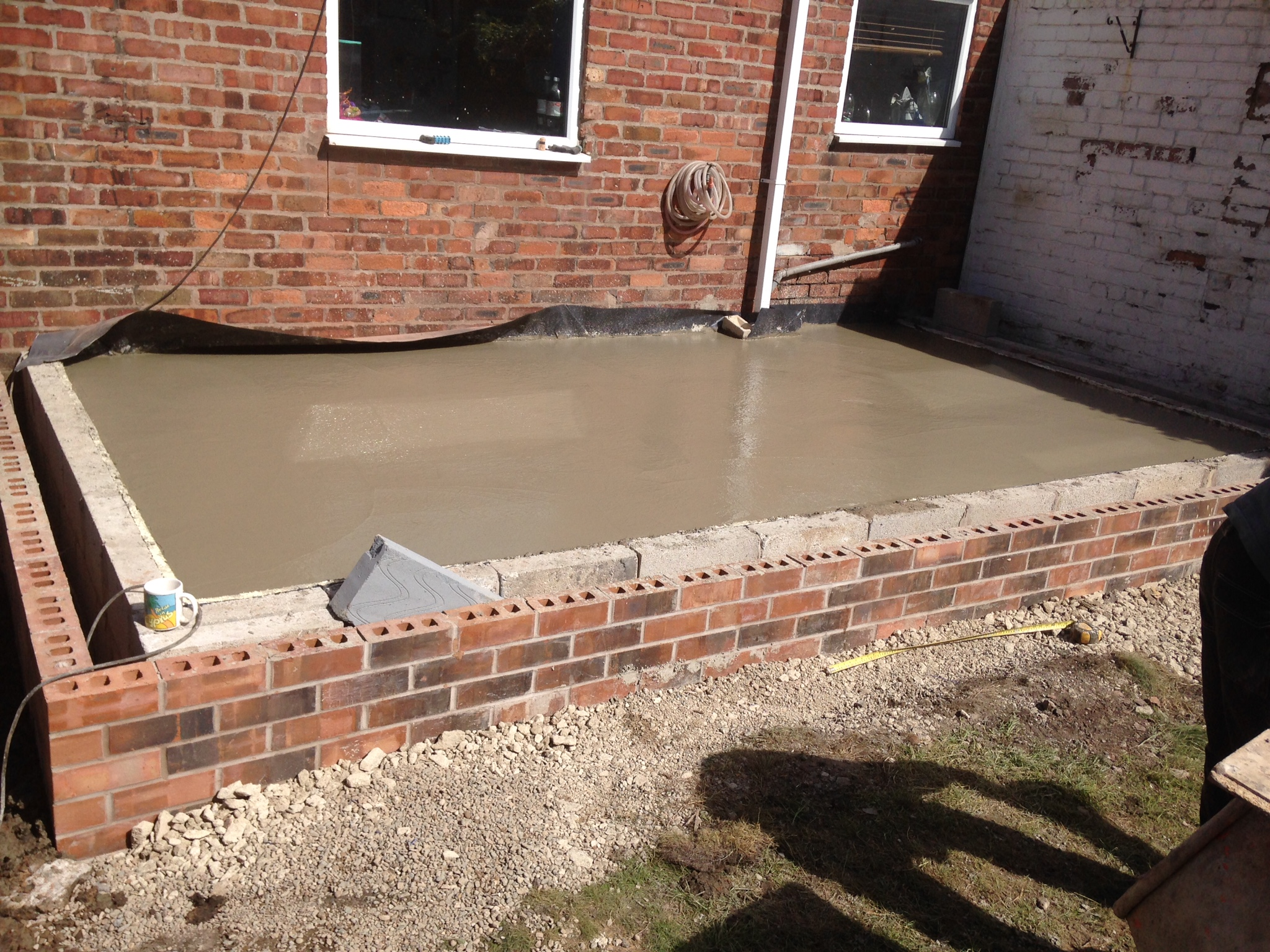Concrete Foundations And Base For Single Story Extension