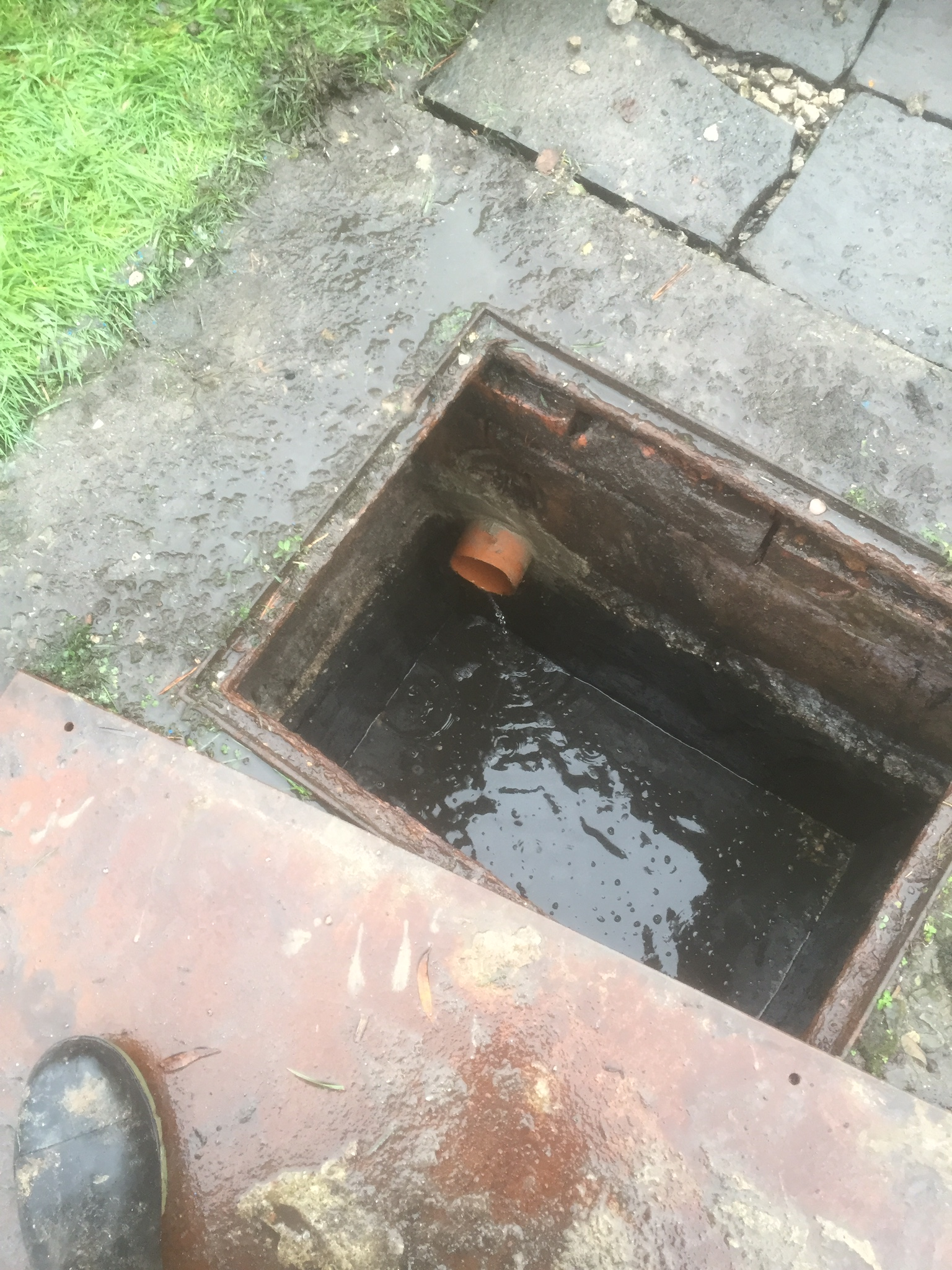 Replacement Of Clay Septic Tank Inlet Pipe And Filterbed